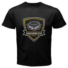 New BANCHAMEK Gymer Buakaw Por Pramuk Muay Thai Logo Mens Black T-Shirt Size S-2XL Summer Fashion Funny Print T Shirts