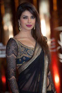 Babes&Colors http://www.ownow.com/apparels  #fashion #saree #designersaree #trendyapparels #apparels #desi #priyanka #black #awesome