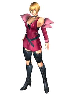 Jenny from Bloody Roar Primal Fury... solid character. My favorite to play as by far! Lot's of great kick combos, and she turns into a bat! Wooo!