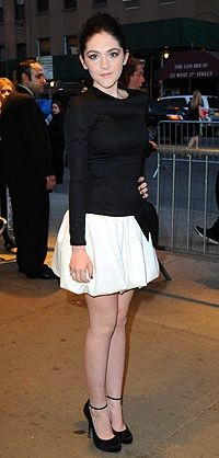 "Isabelle Fuhrman, who plays Clove in ""The Hunger Games,"" arrives for the Chelsea screening"