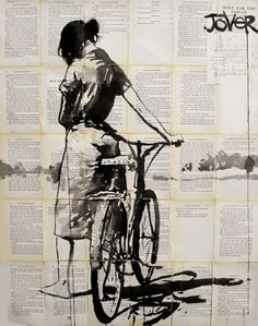 valscrapbook:  wasbella102:Her bicycle:  Loui Jover