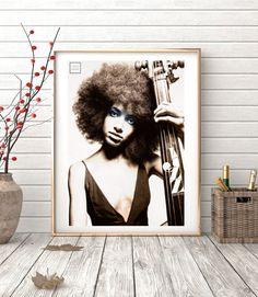 Jazz it ref.02- Collage, Photo, woman, bues, jazz, Giclée, soul, vintage ,retro, decor, print , poster, wall, interior design, elegant-