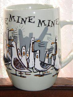 Disney Finding Nemo Mine Mine Mine Ceramic SEAGULL COFFEE MUG Cup Tea Mickey NEW | Colecionáveis, Colecionáveis Disney, Contemporâneos (1968 até o presente) | eBay!