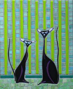 Black Cats - ©Martin Cheek Artwork