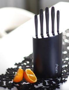 Black Knife Block Set - Vialli Design