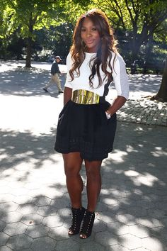 ef9f0ef213437 Nice look for the US Open 2013 champ - Serena in NYC Serena Williams Photos,