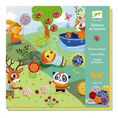 Djeco Kreativset Fädelkarten Knopfbilder für Kinder von 4 - 8 Jahren - Bonuspunkte sammeln, Rechnungskauf, DHL Blitzlieferung!