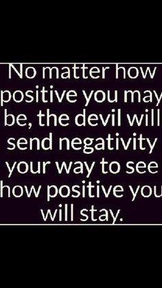 No matter how positive