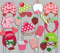 Vintage Strawberry Shortcake Party Photo Booth by IraJoJoBowtique