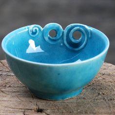 clay (کاسه سفالی فیروزه ای با طرح موج دریا: اثری از هنرمند گرانقدر تبریزی در فروشگاه اینترنتی پلاک سه)