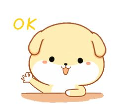 LINE Creators' Stickers - A puppy named Wang Example with GIF Animation Ok Gif, Dibujos Cute, Puppy Names, Dog Years, Line Sticker, The Creator, Hello Kitty, Gifs, Animation
