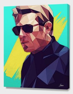 """""""The King of Cool"""", Exclusive Edition Canvas Print by Mayka ienova  - From $69.00 - Curioos"""