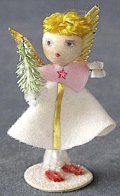 Vintage Angel Christmas Ornament