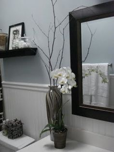 I want to redo my bathroom with this!!! Sherwin Williams sleepy blue