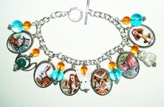 ALICE IN WONDERLAND altered art charm bracelets - art jewelry for you