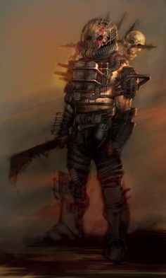 View an image titled 'Raider Concept Art' in our Fallout 4 art gallery featuring official character designs, concept art, and promo pictures. Fallout Art, Fallout 4 Concept Art, Fallout Raider, Post Apocalyptic Costume, Post Apocalyptic Art, Cyberpunk, Apocalypse World, Apocalypse Survival, Wasteland Warrior