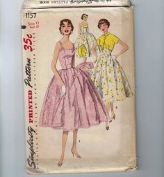 Uncut Vintage Sewing Pattern by GypsyArtistVintage on Etsy Modern Sewing Patterns, Vintage Dress Patterns, Simplicity Sewing Patterns, Vintage Dresses, Vintage Outfits, Sewing Ideas, Rockabilly Outfits, Rockabilly Clothing, Retro Fashion