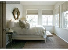 Love the simplicity of this Lake Martin bedroom by Tracery Interiors.