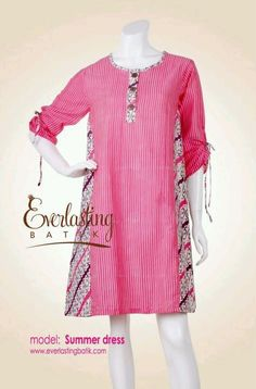 pink dress Batik Fashion, Ethnic Fashion, African Fashion, Blouse Batik, Batik Dress, Mode Batik, Model Kebaya, Batik Kebaya, Amarillis