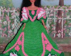 Crochet moda muñeca Barbie patrón  235 LADY por JudysDollPatterns