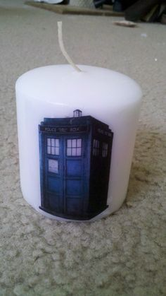 DIY Tardis Candle