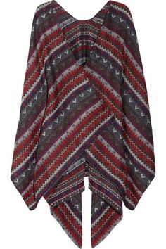 Missoni Crochet-Knit Wool Poncho, $630, available at Net-A-Porter. #refinery29 http://www.refinery29.com/western-clothing#slide-7