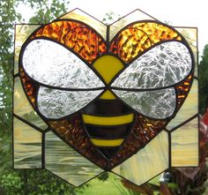 Love+Bee++Stained+Glass+SunCatcher+by+Handcraftcottage+on+Etsy,+$27.00