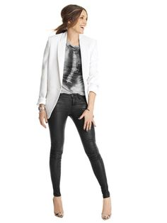 Super cute.  Have been dying for a pair of leather skinny pants since 1999.  These would be perfect!