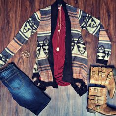 Fall fashion is our favorite! We love this cozy cardi... it's the perfect #ootd!