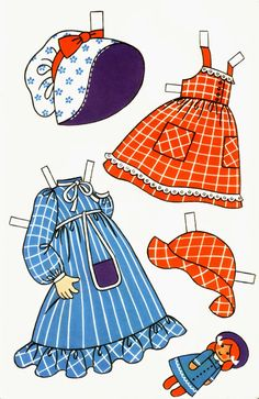 Maria, a Carlsen greeting card paper doll from Denmark (3 of 6) | Lorie Harding | Picasa Webalbum