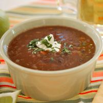 Black Bean Soup - Dr. Weil's Healthy Kitchen  Ingredients  1 pound black beans  1 bay leaf  1 large onion, sliced  Salt to taste  A few cloves of chopped garlic  1 teaspoon dry mustard powder  1 cup dry sherry (not cooking sherry)