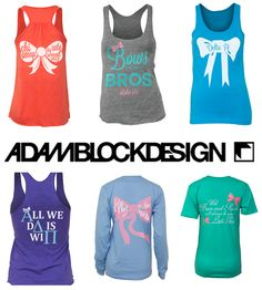 "★ ☆ JULY ★ ☆ means 15% off all ADAM BLOCK DESIGN goodies with pref promo code: ""sorority sugar""!!! totally BOWTASTIC!! http://www.adamblockdesign.com"