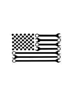 Wrench and bolt Mechanic American Flag with optional sizes! Cricut Vinyl, Vinyl Decals, Wrench Tattoo, Tribal Hand Tattoos, Harley Tattoos, Patterned Vinyl, Cricut Explore Air, Vinyl Crafts, Cricut Ideas