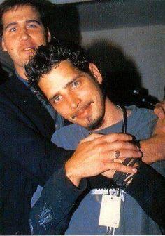 Krist Novoselic and Chris Cornell