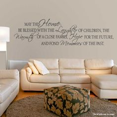 Share us on your network of choice and get 10% off your order! May This Home Be Blessed With The...  Wall Art Decal
