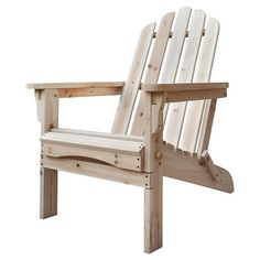 shine company westport natural cedar patio adirondack chair 4611n