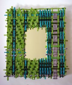 Woven, Fused Glass Wall & Table #Sculpture #Art by @perlasegovia - http://www.site.perlasegovia.com/ -