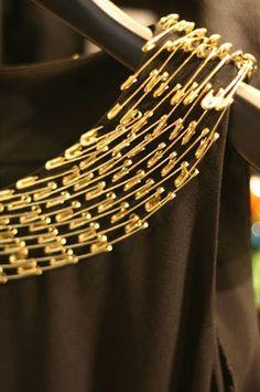 Safety pin collar.