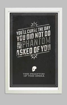 Phantom of the Opera: All I Ask Phantom- Print 11x17. $10.00, via Etsy.