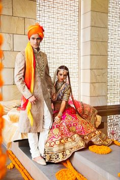 """If you want to theme your #Desi Wedding with an yellow + orange palette, don't be shy! It's a great look!"""