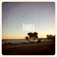Rambla - seaside- Montevideo, Uruguay