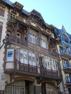 10, 12, rue Boucher de Perthes Villa Hélèna et Villa Jan, Mers les Bains. Niermans Edouard art nouveau