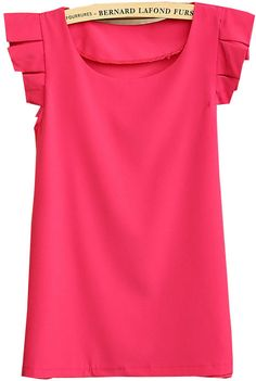 To find out about the Rose Red Round Neck Pleated Short Sleeve Chiffon Blouse at SHEIN, part of our latest Blouses ready to shop online today! Women's Dresses, Preppy Style, My Style, Pleated Shorts, Work Wardrobe, All About Fashion, Spring Summer Fashion, Dress To Impress, Chiffon