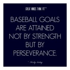 #Baseball #Quote 8: Perseverance for Success #Poster