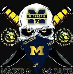 | Michigan Wolverines | Michigan Wolverines Basketball, Detroit Football, College Football Teams, Football Memes, Michigan Hockey, Michigan Gear, Detroit Lions Wallpaper, Michigan Go Blue