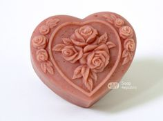 Rosy Heart Floral Silicone Soap Mold  Soap by soaprepublic on Etsy, $14.00