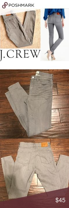 J Crew High Waist Lookout Skinny Jeans Gray 29 T I LOVE these jeans but they're too long for me. They are in excellent condition. Only worn a couple of times. They are a size 29 tall which is an 8. They definitely stretch and they are amazingly comfortable. They are from the Spring 2016 collection. They fit true to size J. Crew Jeans Skinny