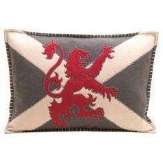 Buy Jan Constantine Scottish Lion Cushion from our Cushions range - Tesco Lions Home, Scottish Decor, Scottish English, Applique, Tesco Direct, Grey Cushions, Perfect Pillow, My Heritage, Union Jack