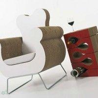 muebles reciclados de carton 5                              …