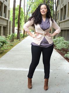 {Pretty in Pastels} REAL Curvy Girl inspiration from Tanesha Awasthi, her blog: Girl With Curves